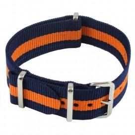 Ремешок NATO G10 синий с оранжевой полосой