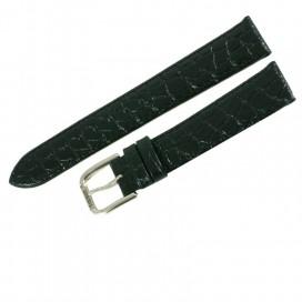 Ремешок Tissot для часов Old Desire (T870/970), 18 мм, черный с белой пряжкой