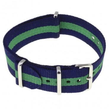 Ремешок NATO G10 синий с зеленой полосой
