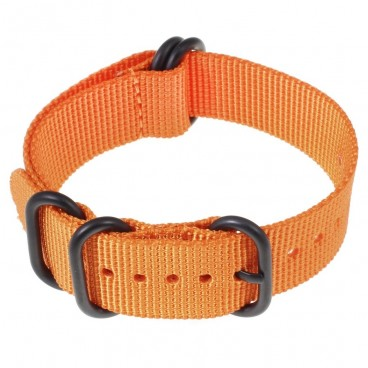 Ремешок ZULU 5 колец PVD оранжевый