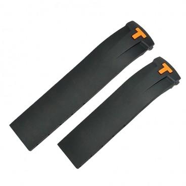 Ремешок Tissot для часов PRS 330, черный с оранжевым, 20 мм