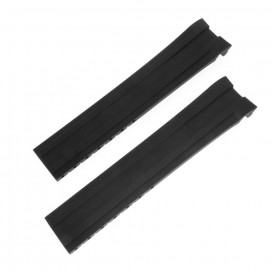 Черный каучуковый ремешок Longines HydroConquest