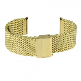 Золотистый Mesh браслет полированный