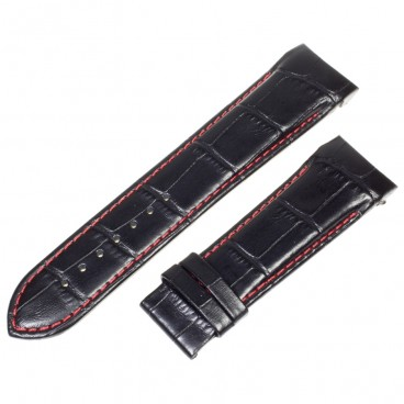 Ремешок Tissot для часов Couturier, черный с красным, 23 мм