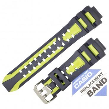 Ремешок CASIO G-7710C черно-зеленый, 10288809