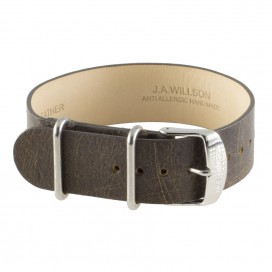Коричневый кожаный ремешок ZULU J.A. Willson