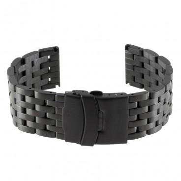 Черный литой браслет Mod. 106