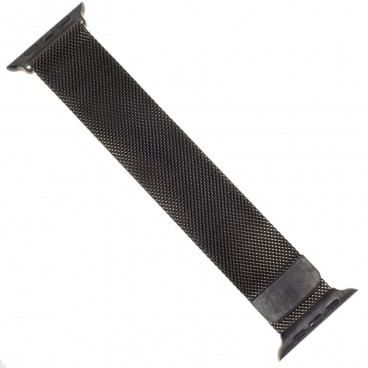 """Миланский браслет """"Milanese loop"""" для Apple Watch 44mm (42mm), черный"""
