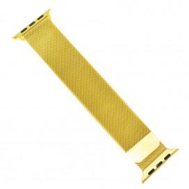"""Миланский браслет """"Milanese loop"""" для Apple Watch 44mm (42mm), позолота"""