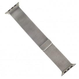 """Миланский браслет """"Milanese loop"""" для Apple Watch 38mm, стальной"""