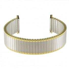 Металлический браслет-резинка, биколор