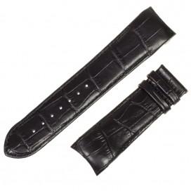 Черный ремешок 24 мм для часов Tissot Couturier (совместимый)