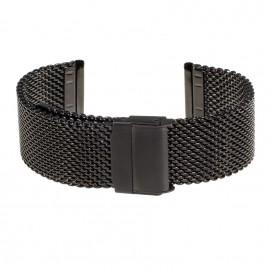 Черный Mesh браслет полированный d 0.8 мм