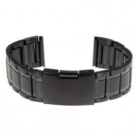 Черный стальной браслет модель 412