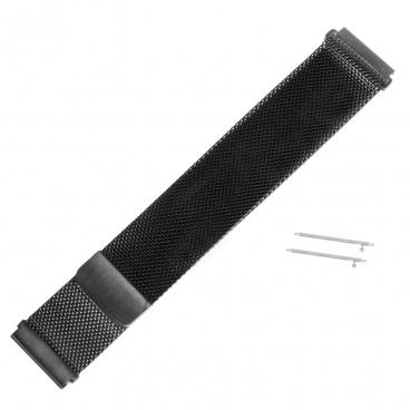 Черный Mesh браслет на магнитной застежке