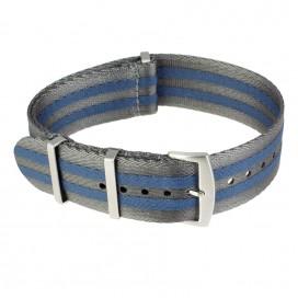 Ремешок NATO Seatbelt серо-синий