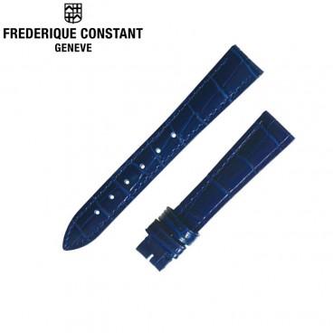 Ремешок Frederique Constant, синий 15 мм, лак