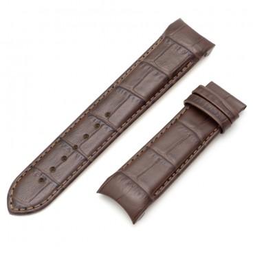 Коричневый ремешок 22 мм для часов Tissot Couturier (совместимый)