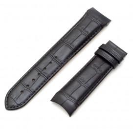 Черный ремешок 22 мм для часов Tissot Couturier (совместимый)