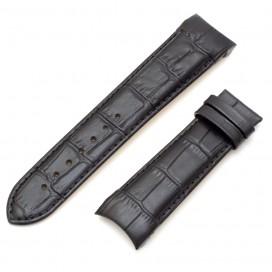Черный ремешок 23 мм для часов Tissot Couturier (совместимый)