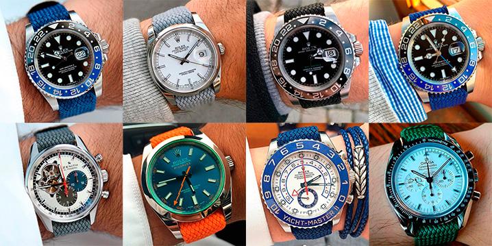 Перлоновый ремешок для часов купить часы бристон купить