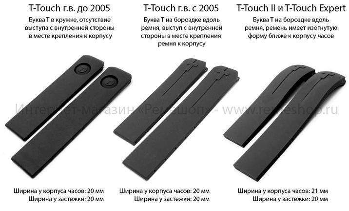 Специфика ремней для часов Tissot T-Touch различных годов выпуска