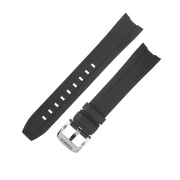Ремешок Tissot для часов PRC 200, черный, 19 мм