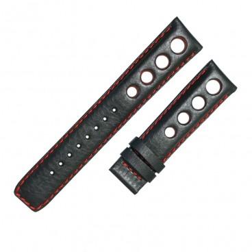 Ремешок Tissot для часов PRS 516, черный с красным, 20 мм
