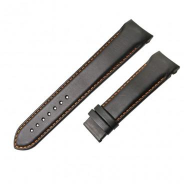 Ремешок Tissot для часов Couturier, черный с оранжевым, 22 мм, XL