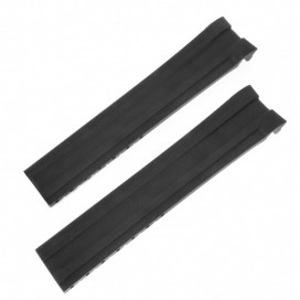 Черный каучуковый ремешок Longines Conquest