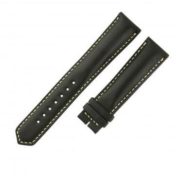 Черный ремешок для часов Longines, гладкая кожа