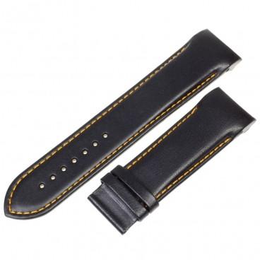Ремешок Tissot для часов Couturier, черный с оранжевым, 24 мм, XL