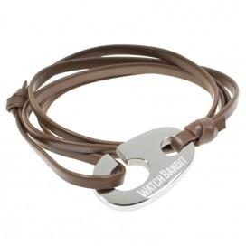 Браслет с морским крюком WatchBandit, коричневый кожаный