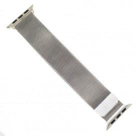 """Миланский браслет """"Milanese loop"""" для Apple Watch 44mm (42mm), стальной"""