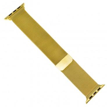 """Миланский браслет """"Milanese loop"""" для Apple Watch 40mm (38mm), позолота"""