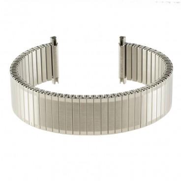 Металлический браслет-резинка стального цвета