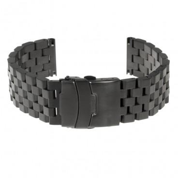 Черный литой браслет Mod. 108