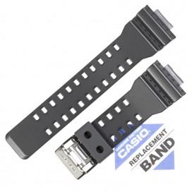Ремешок CASIO GA-100CF, серый металлик, 10467764