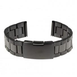 Черный стальной браслет модель 411