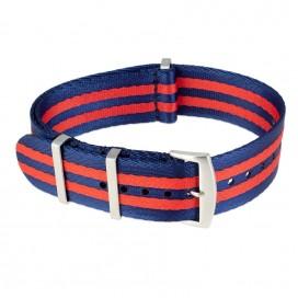 Ремешок NATO Seatbelt сине-красный