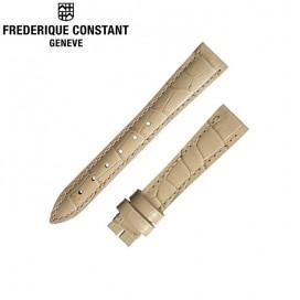 Ремешок Frederique Constant, беж 15 мм, лак