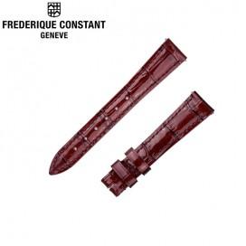 Ремешок Frederique Constant, бордовый 15 мм, лак