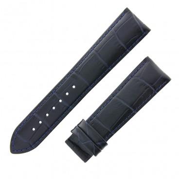 Ремешок Tissot для часов Chemin Des Tourelles, чёрный с синим, 21 мм