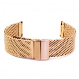 Золотисто-розовый Mesh браслет полированный